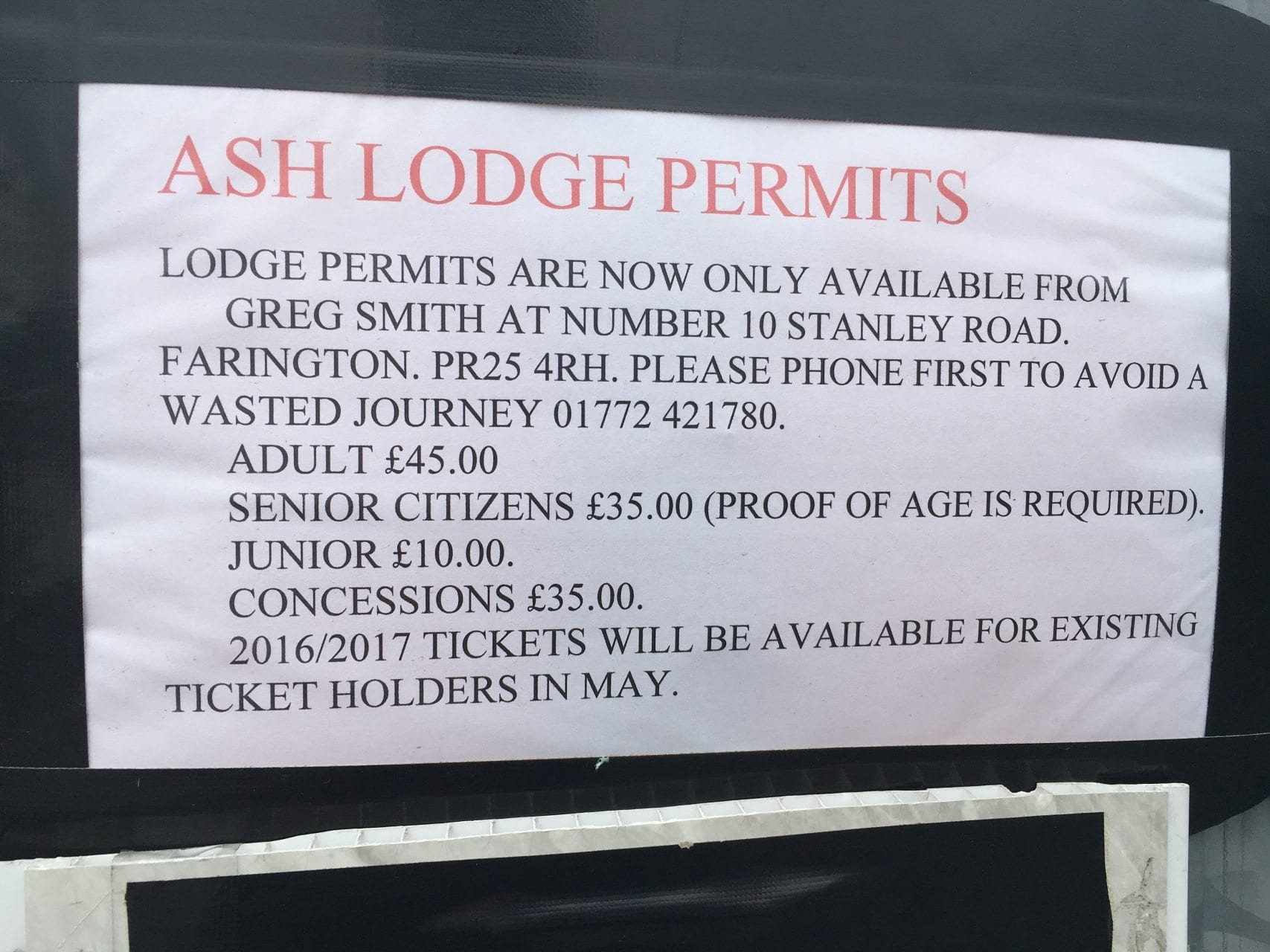Ash Lodge Fishing Lake Leyland Membership Applications