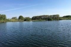 Looking across Jimmy's Lake Borwick Fishing