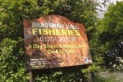Fishing Bradshaw Hall - Fishing Sign
