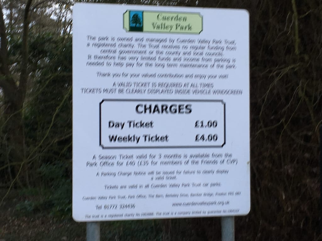 Cuerden Valley Fishery - Don't forget to pay for Parking