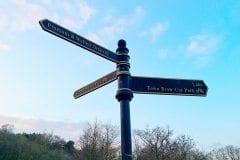 Cuerden Valley Sign Post