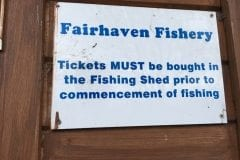 Fairhaven Fishery Sign