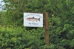 Fylde Trout Fishery sign