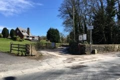 High Heyes Farm Fishery Entrance