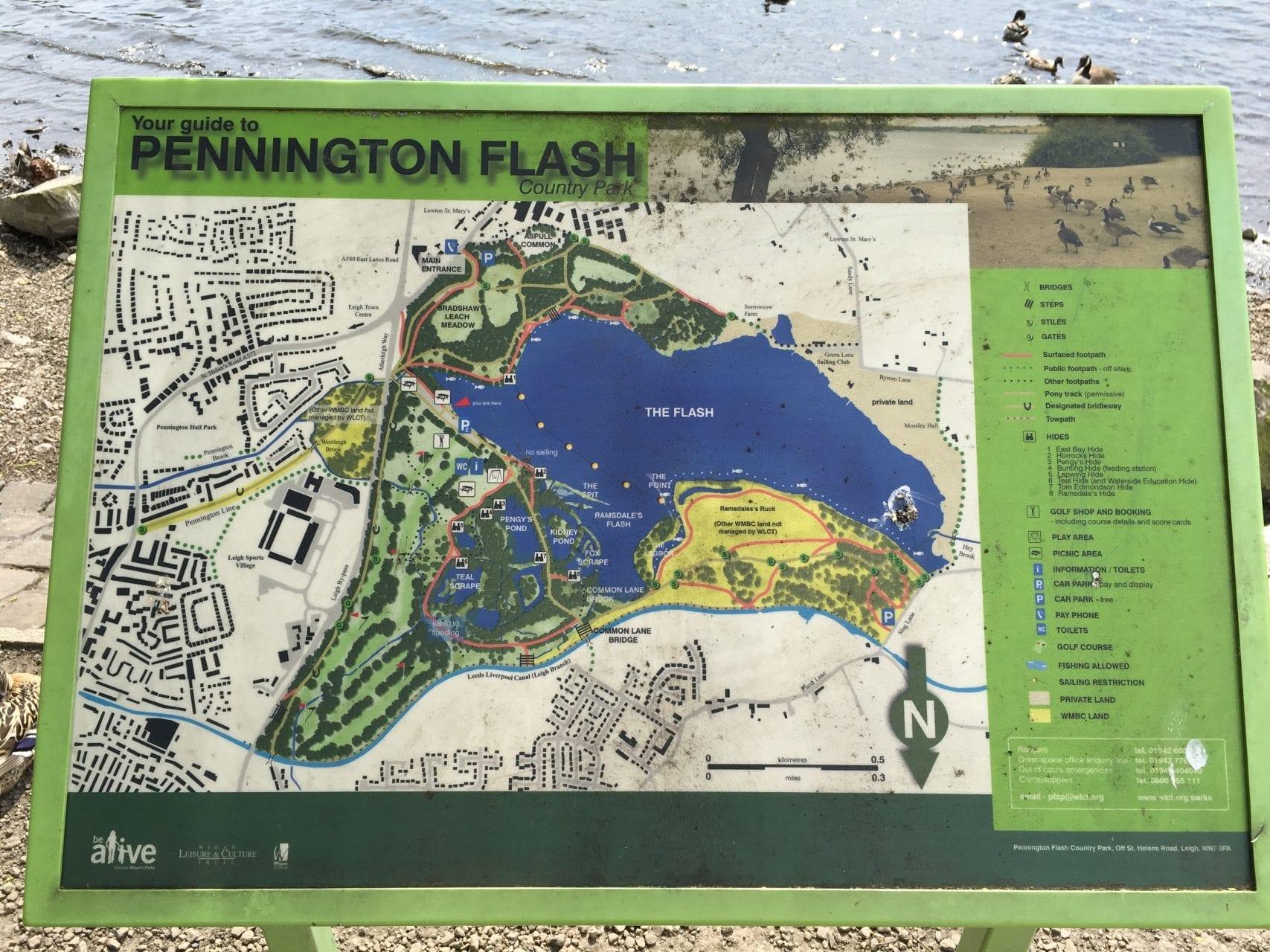 Pennington Flash Country Park, Fishing in Lancashire