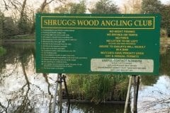 Shruggs Wood Leyland Rules Sign