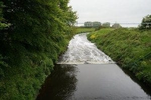 Weir on the River Douglas From Wanes Blades Bridge.